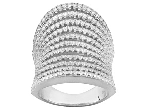 Cubic Zirconia Sterling Silver Ring 3.16ctw