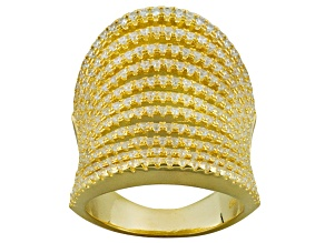 Cubic Zirconia 14k Yellow Gold Over Silver Ring 3.16ctw