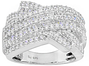 Cubic Zirconia Silver Ring 2.05ctw