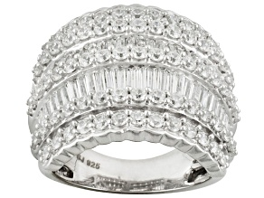 Cubic Zirconia Sterling Silver Ring 7.95ctw