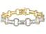 Cubic Zirconia 18k Yellow Gold Over Silver Bracelet