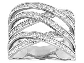 Cubic Zirconia Silver Ring 1.33ctw