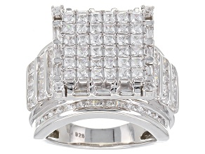 Cubic Zirconia Silver Ring 5.40ctw