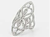 Cubic Zirconia Silver Ring 2.13ctw