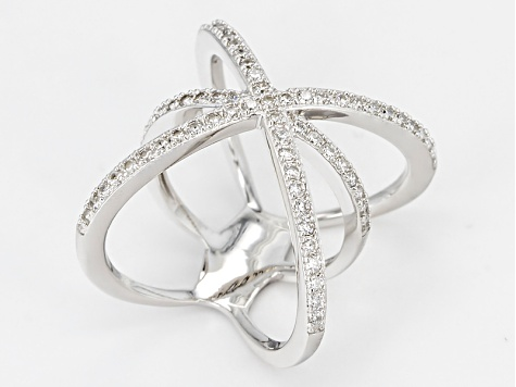 Cubic Zirconia Silver Ring .98ctw