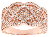 Cubic Zirconia 18k Rose Gold Over Silver Ring 2.01ctw