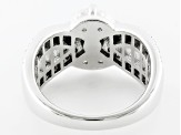 Cubic Zirconia Silver Ring 5.51ctw
