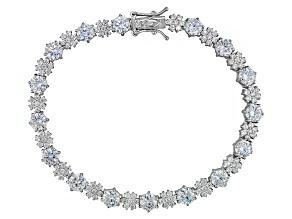 Cubic Zirconia Silve Bracelet 13.31ctw