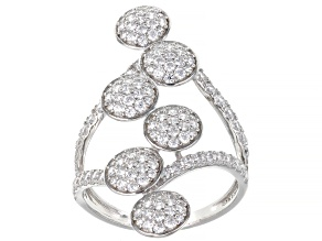 Cubic Zirconia Sterling Silver Ring 2.24ctw