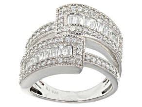 Cubic Zirconia Sterling Silver Ring 2.21ctw