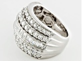 Cubic Zirconia Silver Ring 5.95ctw