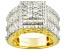 Cubic Zirconia 18k Yellow Gold Over Silver Ring 5.72ctw