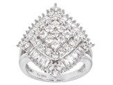 Cubic Zirconia Silver Ring 4.32ctw