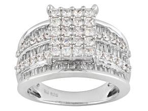 Cubic Zirconia Silver Ring 3.50ctw