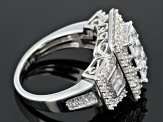 Cubic Zirconia Silver Ring 3.60ctw
