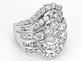 Cubic Zirconia Silver Ring 6.26ctw