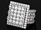 Cubic Zirconia Silver Ring 9.46ctw