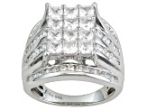 Cubic Zirconia Silver Ring 4.21ctw