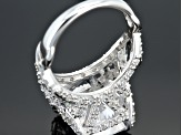 Cubic Zirconia Silver Ring 13.90ctw