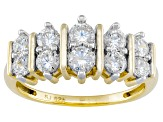 Cubic Zirconia 18k Yellow Gold Over Silver Ring 1.90ctw