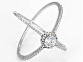 Cubic Zirconia Rhodium Over Sterling Silver Ring 1.25ctw