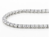 White Cubic Zirconia Rhodium Over Sterling Silver Tennis Necklace 101.91ctw