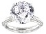 White Cubic Zirconia Rhodium Over Sterling Silver Ring 12.62ctw