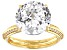 White Cubic Zirconia 18k Yellow Gold Over Sterling Silver Ring 12.62ctw
