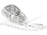 White Cubic Zirconia Rhodium Over Sterling Silver Pendant With Chain 10.65ctw