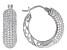White Cubic Zirconia Rhodium Over Sterling Silver Hoop Earrings 4.15ctw
