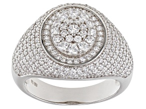 White Cubic Zirconia Rhodium Over Sterling Silver Ring 2.60ctw