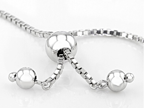 White Cubic Zirconia Rhodium Over Sterling Silver Adjustable Bracelet 3.92ctw