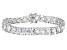 White Cubic Zirconia Rhodium Over Sterling Silver Tennis Bracelet 33.1ctw
