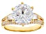 White Cubic Zirconia 18k Yellow Gold Over Sterling Silver Ring 8.35ctw