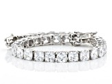 White Cubic Zirconia Rhodium Over Sterling Silver Bracelet 35.37ctw