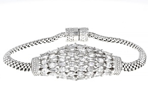 White Cubic Zirconia Rhodium Over Sterling Silver Bracelet 8.45ctw