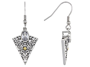 White Cubic Zirconia Rhodium Over Sterling Silver Earrings 1.50ctw