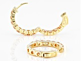 Champagne Cubic Zirconia 18k Yellow Gold Over Sterling Silver Hoop Earrings 4.85ctw