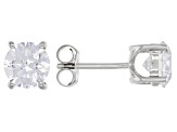 White Diamond Simulant Platinum Over Sterling Ring, Earrings, and Pendant With Chain Set 9.40ctw