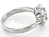 White Cubic Zirconia Platinum Over Sterling Silver Ring 2.32ctw