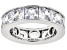 White Cubic Zirconia Rhodium Over Sterling Silver Ring 15.02ctw