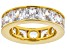 White Cubic Zirconia 18k Yellow Gold Over Sterling Silver Ring 15.02ctw