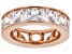 White Cubic Zirconia 18k Rose Gold Over Sterling Silver Ring 15.02ctw