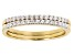 White Cubic Zirconia 18K Yellow Gold Over Sterling Silver Rings Set of 2 0.47ctw