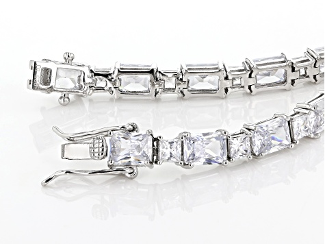 White Cubic Zirconia Rhodium Over Sterling Silver Bracelet 30.33ctw
