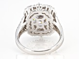 White Cubic Zirconia Rhodium Over Sterling Silver Ring 6.74ctw