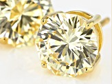 Yellow Cubic Zirconia 18K Yellow Gold Over Sterling Silver Stud Earrings 6.99ctw