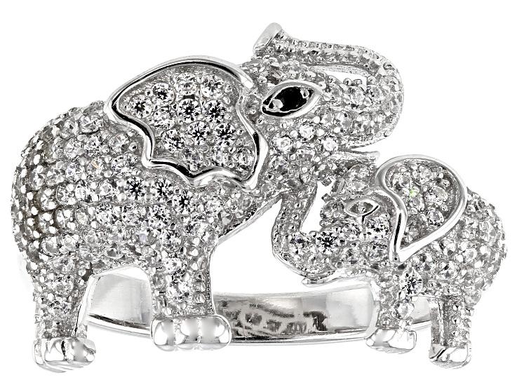 Sterling Silver Rhodium Polished Elephant,Unicorn and Dolphin Stud Set Kit