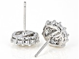 White Cubic Zirconia Rhodium Over Sterling Silver Earrings 2.51ctw