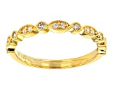 Champagne And White Cubic Zirconia 18K Yellow Gold Over Sterling Silver Ring With Band 4.80ctw